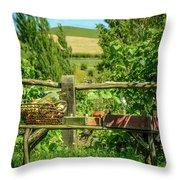 Hobbit Garden Throw Pillow