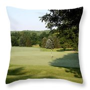 Hobbits Glen - 17th - Waiting For The Birdies Throw Pillow