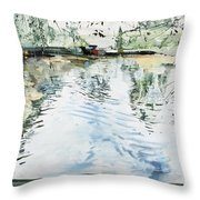 Hobby House And Ripples Throw Pillow
