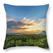 Hobe Sound Beach Sunrise Throw Pillow