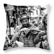 Hobo Ragtime Band Throw Pillow