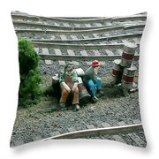 Hobos Throw Pillow