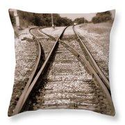 Hobo's Road Throw Pillow