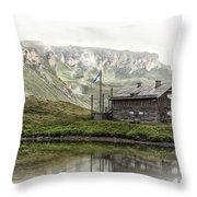 Hochalpenstrasse Throw Pillow