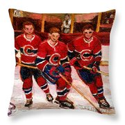 Hockey At The Forum Throw Pillow