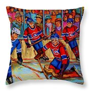 Hockey  Hero Throw Pillow