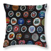 Hockey Pucks Throw Pillow