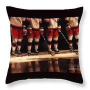 Hockey Reflection Throw Pillow