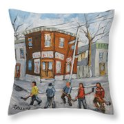 Hockey Town Montreal Created By Prankearts Throw Pillow