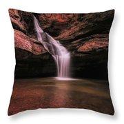 Hocking Hills Cedar Falls Long Exposure Throw Pillow