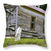 Hocking Hills Church Throw Pillow