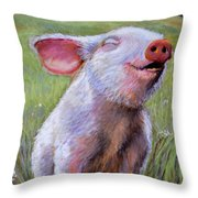 Hog Heaven Throw Pillow