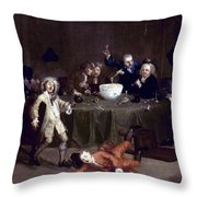 Hogarth: Midnight, 1731 Throw Pillow