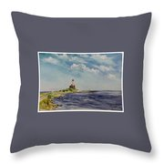 Hogby Lighthouse Throw Pillow