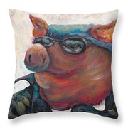 Hogley Davidson Throw Pillow