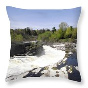 Hogs Back Falls Throw Pillow