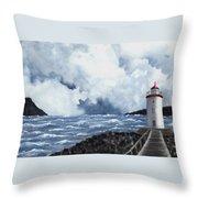 Hogsteinen Lighthouse Throw Pillow