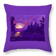 Hogwarts In Purple Throw Pillow
