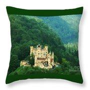 Hohenschwangau Castle 1 Throw Pillow