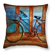 Hoi An Bike Throw Pillow