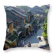 Hoi An Rooftops 01 Throw Pillow