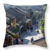 Hoi An Rooftops 02 Throw Pillow