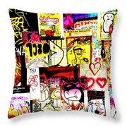 Hola Barcelona Throw Pillow
