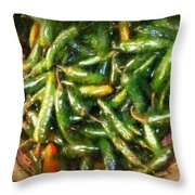 Hola Hot Ones Throw Pillow