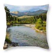 Holback River Throw Pillow