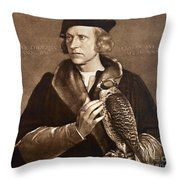 Holbein: Falconer, 1533 Throw Pillow