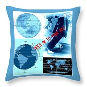 Hold On To Your Hat World Throw Pillow
