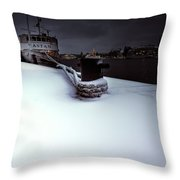 Hold On Winter Throw Pillow