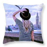 Hold Onto Your Hat Throw Pillow