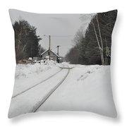 Holden Massachusetts Depot Throw Pillow