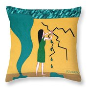 Holding Back The Flood Throw Pillow