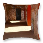 Holding Cells For Slaves Throw Pillow