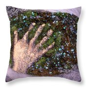 Holding Earth From The Series Our Book Of Common Faith Throw Pillow