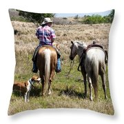Holding Tension Throw Pillow