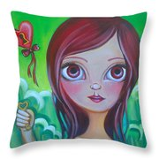 Holding The Key Throw Pillow