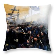Holding The Line At Gettysburg Throw Pillow