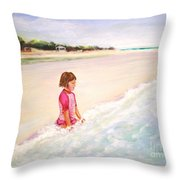 Holding The Ocean Throw Pillow