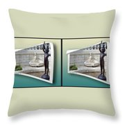 Holding Up My End - Gently Cross Your Eyes And Focus On The Middle Image Throw Pillow