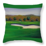 Hole 1 Great Beginnings Throw Pillow