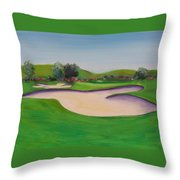 Hole 10 Pastures Of Heaven Throw Pillow