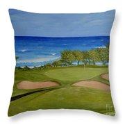 Hole 17 - Wailua Golf Course On Kauai Throw Pillow