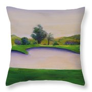 Hole 2 Nuttings Creek Throw Pillow