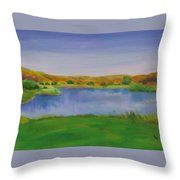 Hole 3 Fade Away Throw Pillow