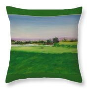 Hole 8 Mission Green Throw Pillow