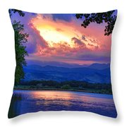 Hole In The Sky Sunset Throw Pillow