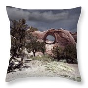 Hole In The Wall Mindscape Throw Pillow